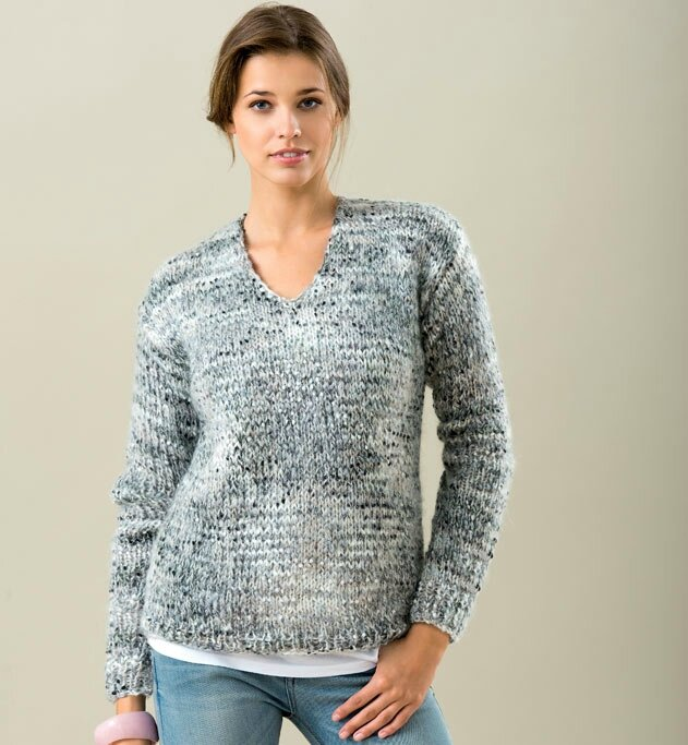Tricoter un pull femme taille 50