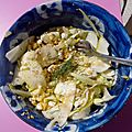 Salade courgette fenouil