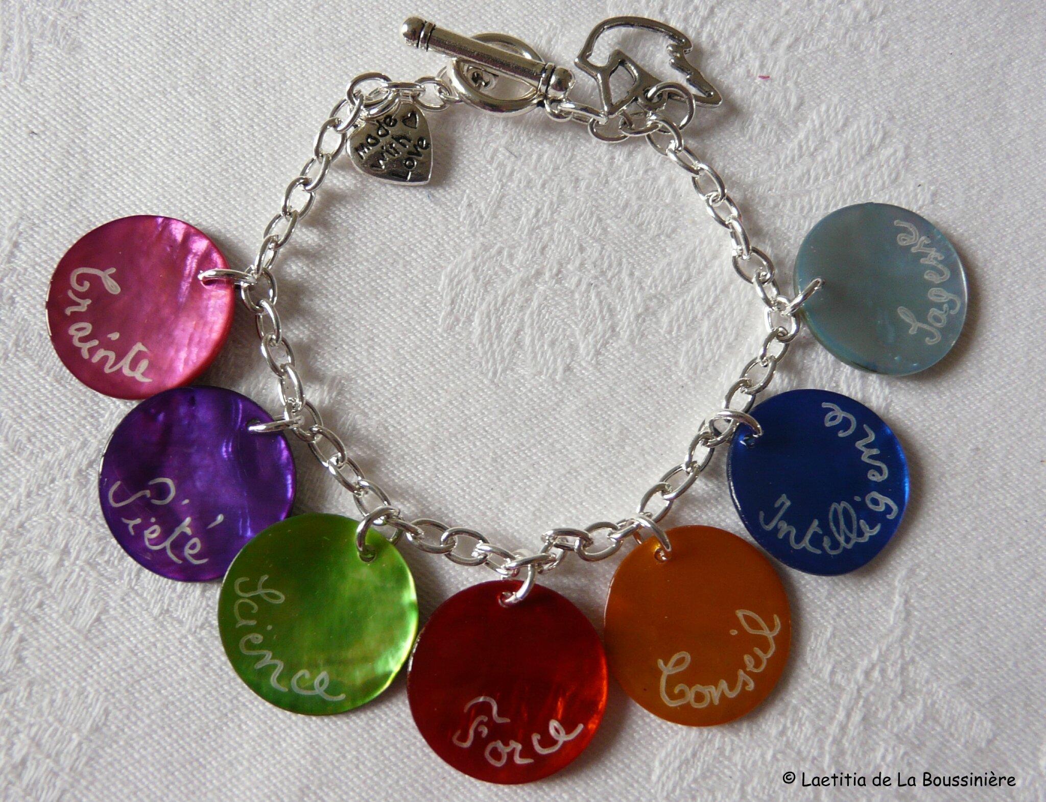 Bracelet des Sept Dons de l'Esprit Saint