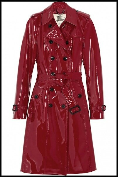 burberry trench coat vernis rouge
