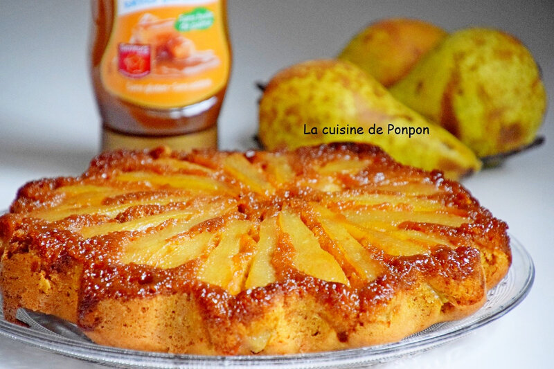 gateau renversé caramélisé aux poires et épices (9)