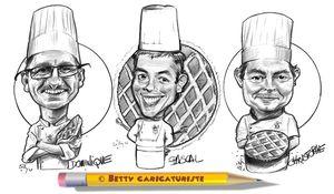 cuisinier caricature moulin galette paris