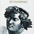 Lettres et maximes d'epicure