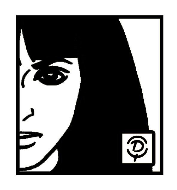 """Portrait de """"Natacha von Braun"""" Anna Karina Dessin au trait"""