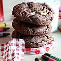 Cookies chocolat aux pépites de chocolat