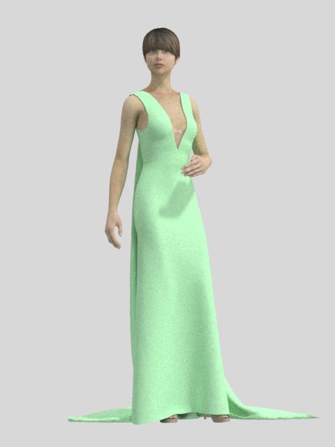 Robe verte devant