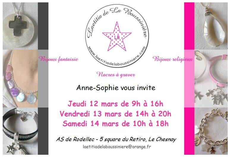 Vente Laetitia de La Boussinière - Bijoux chez Anne-Sophie de Rodellec