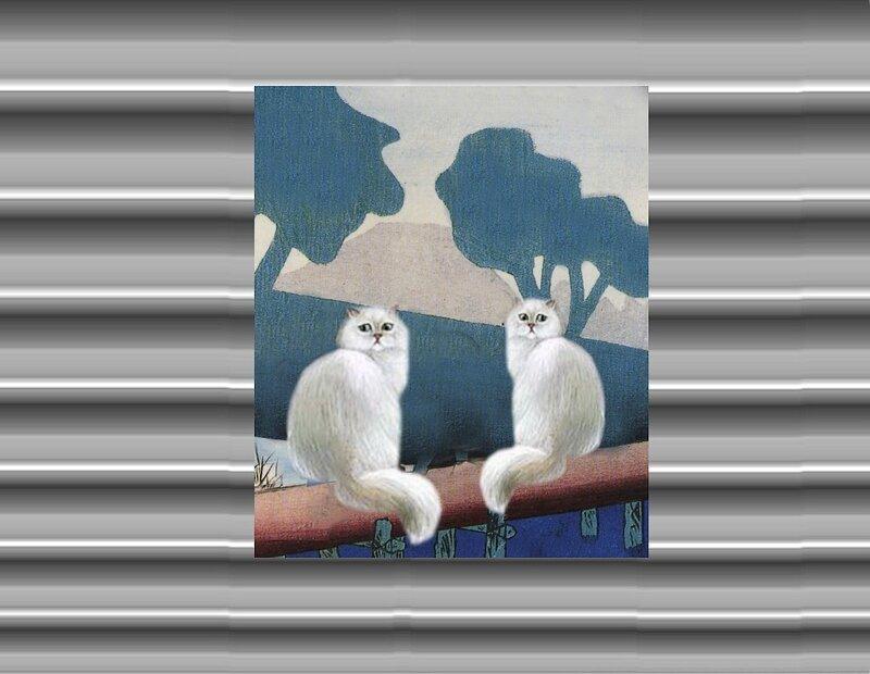 magnet_frigo_avec_chats__deux_chats_blancs_sur_un_cerisier