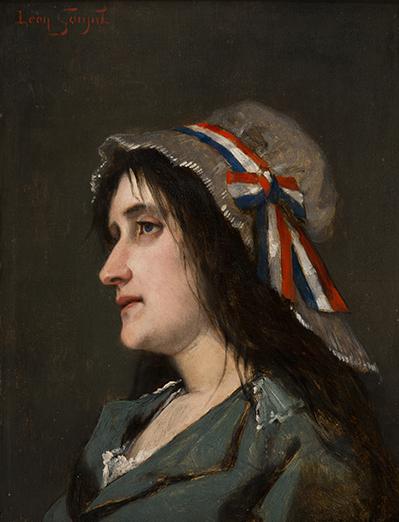 Léon lucien goupil femme republicaine a la cocarde tricolore galerie drylewicz