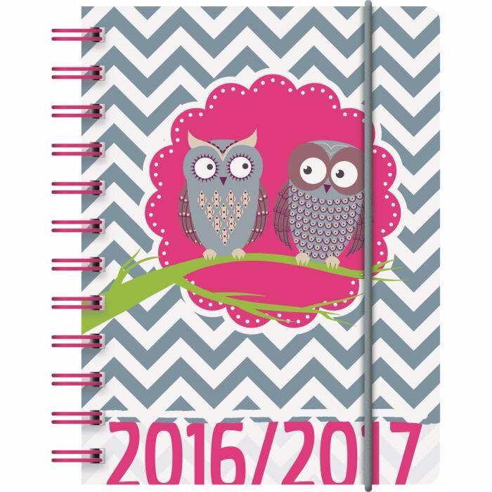 agenda-scolaire-hibou-spirales-2016-2017