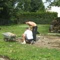 Mon petit frère et mon homme au travail !