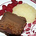 Gâteau chocolat - soupe de poires
