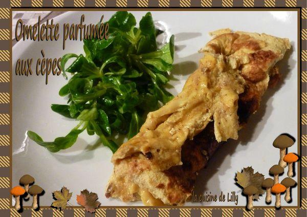 omelette parfumée aux cèpes