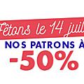 - 50% sur les tutos de sacs
