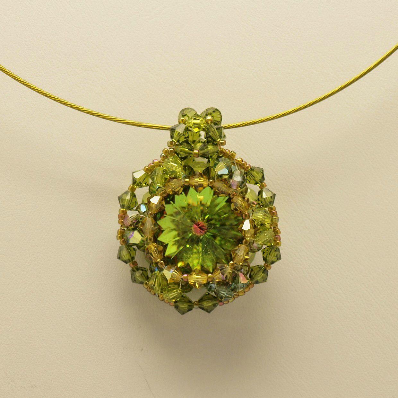 Pendentif Vert Olivine