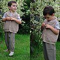 modèle gilet garçon au crochet japonais