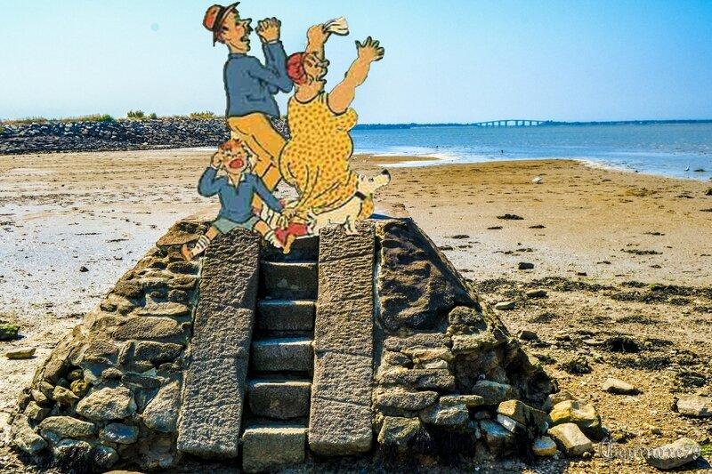 passage du Gois en Vendée, Les balises refuges seront érigées vers la fin du XVIIIe siècle