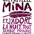 Je m'appelle mina, par david almond