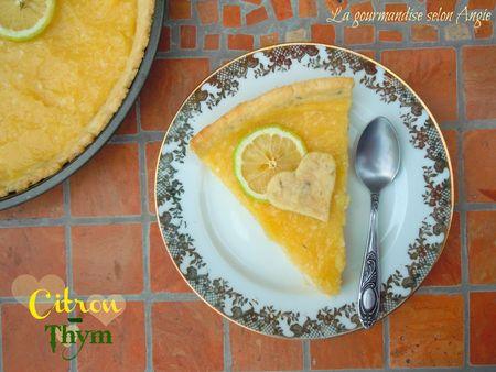 tarte citron thym