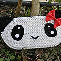 Trousse panda amigurumi