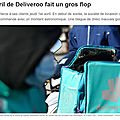 Deliveroo de l'infortune
