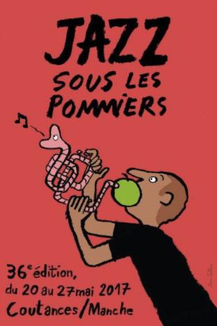 festival Jazz sous les Pommiers 2017 Coutances visuel affiche