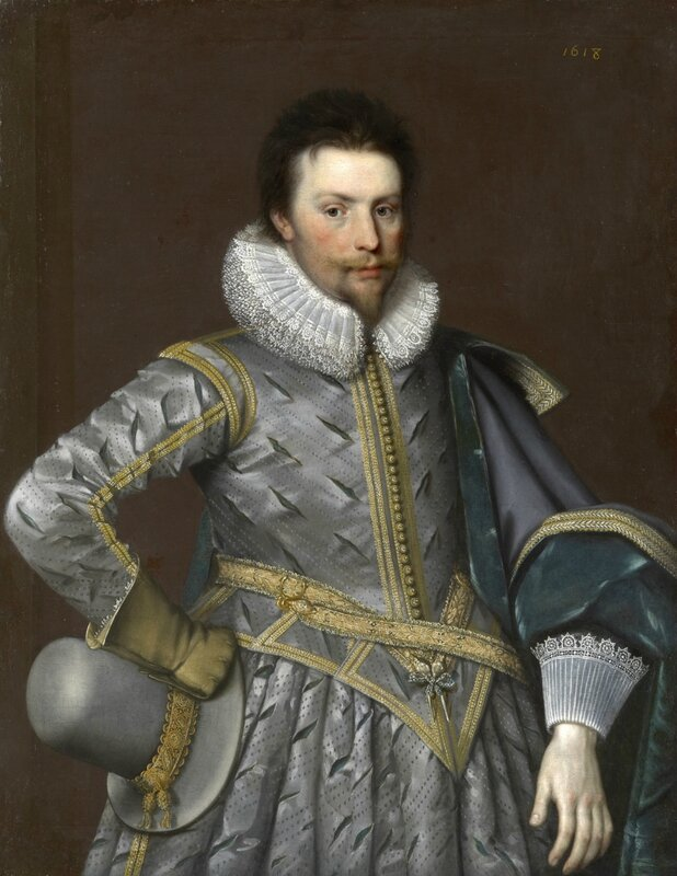 Paul van Somer (1576 – 1621), Sir Rowland Cotton (1581 – 1634) of Alkington Hall, Whitechurch, and Bellaport Hall, Shropshire
