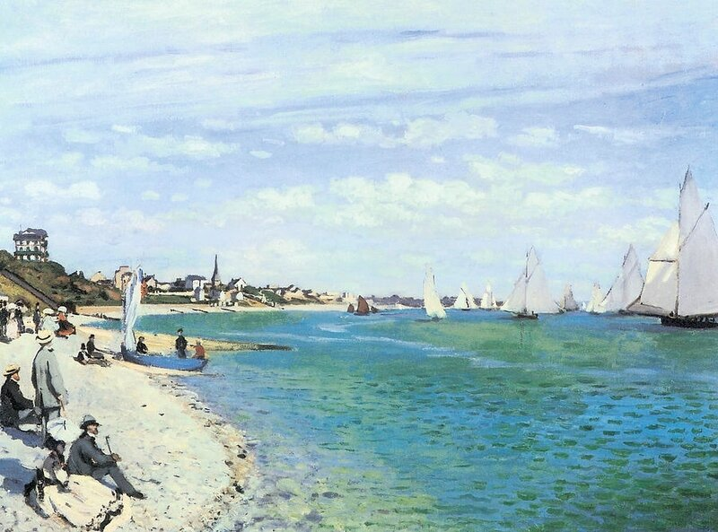 the-regatta-at-sainte-adresse-claude-monet