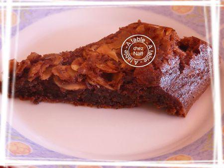 brownies aux amandes effilées 2
