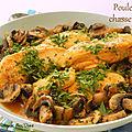 Poulet chasseur à l'italienne, façon jehane benoit, sans gluten et sans lactose
