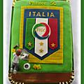 Carreleur, fan de l'équipe d'italie