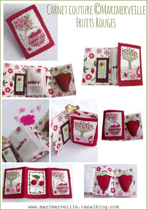 Carnet couture Marimerveille Fruits Rouges2