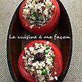 Tomates farcies quinoa