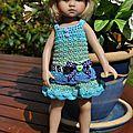 Tuto n° 131 - je continue donc avec la petite robe de coralie...
