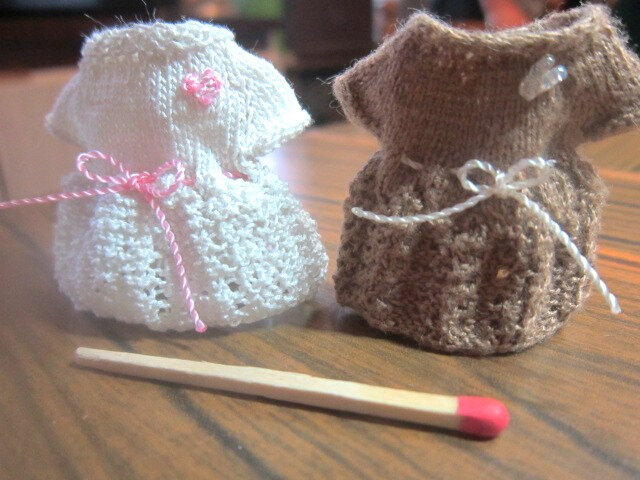 Robes tricotées en 1/12ème