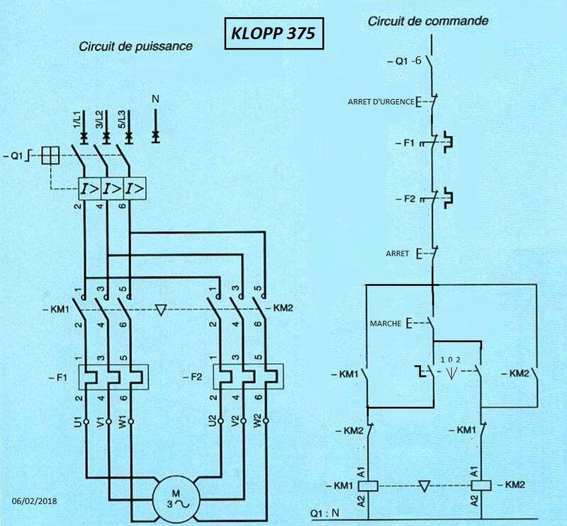 schéma cablage klopp 375