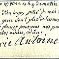 Adieu de Marie-Antoinette à ses enfants, inscrit sur son livre de prière - Bibliothèque de Châlons-sur-Marne