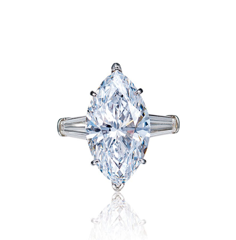 A 7.08 carat, D color, Type IIa diamond ring, Internally Flawless, by Van Cleef & Arpels