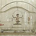 Un homme en cage