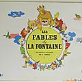 Livre ancien ... les fables de la fontaine (1946) * collection chèque tintin