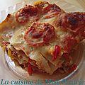 Lasagnes au thon et aux poivrons