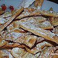 Chiacchiere (beignets italiens)