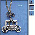 3ème lot : collier pendentif carrosse de cendrillon - jeu concours