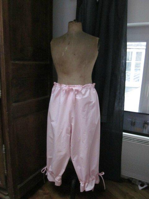 Panty en coton rose tendre (1)