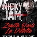 Nicky jam en concert au zenith le 24 mars 2017