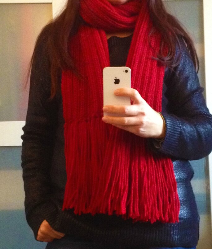 Echarpe rouge4