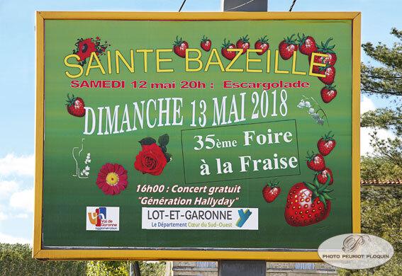 SAINTE_BAZEILLE_Fete_de_la_fraise_panneau_FOIRE_A_LA_FRAISE