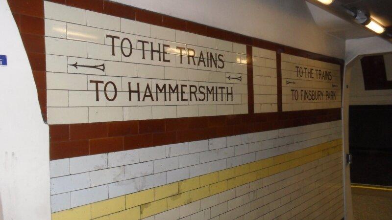 London Underground : signalétique ancienne