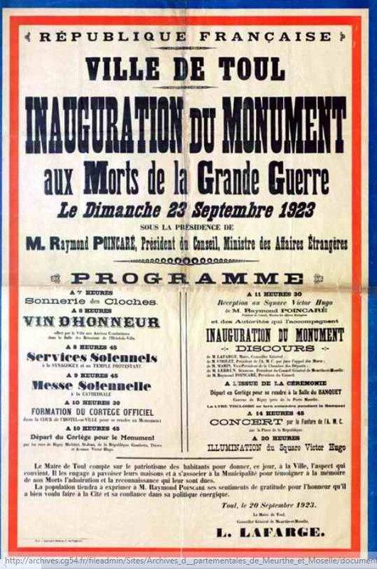 Inauguration monum Toul