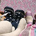 chaussons chaussettes funky giraffe regression ours fait main liberty lapine Maileg (3)